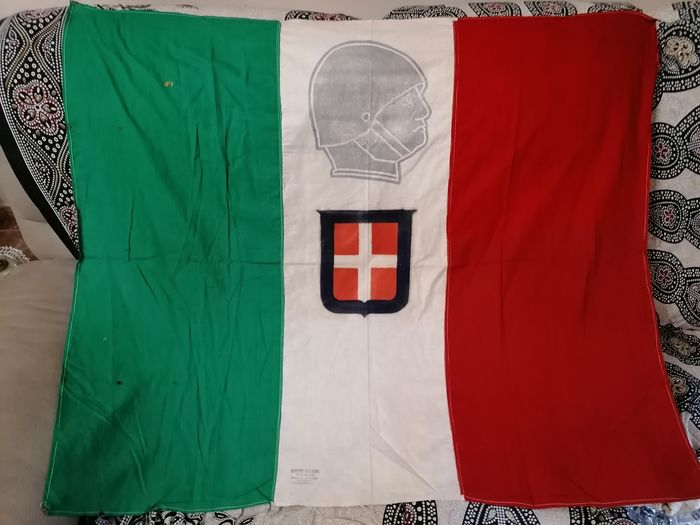 Italy - Big Flag Whit Mussolini - 1938