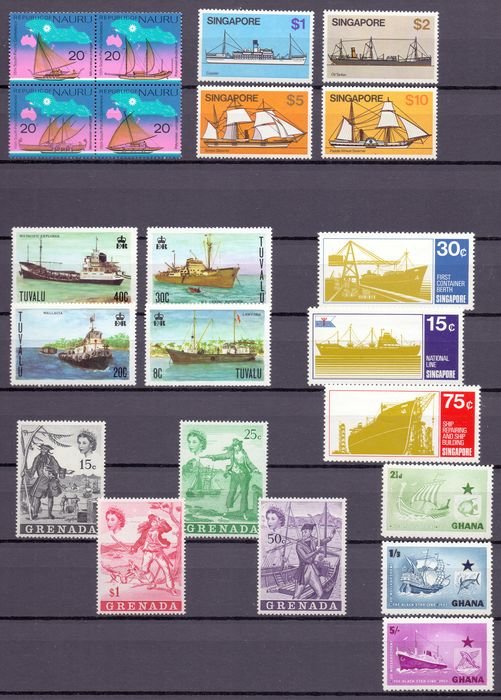 Britse Gemenebest 1960/1990 - topical collection about Ships & boats