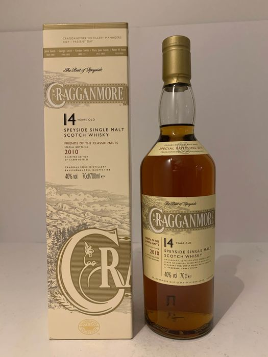 Cragganmore 14 years old Friends of the Classic Malts - Original bottling - b. 2010 - 70cl