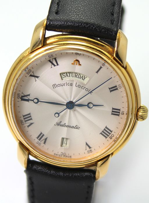 """Maurice Lacroix - Pontos Gold Plated Automatic """"NO RESERVE PRICE"""" - Excellent Condition - With Original Box & Papers - Herren - 1990-1999"""
