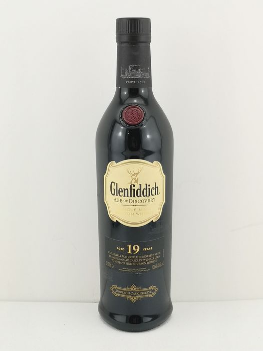 Glenfiddich 19 years old Age of Discovery - Bourbon Cask Reserve - Original bottling - 70cl