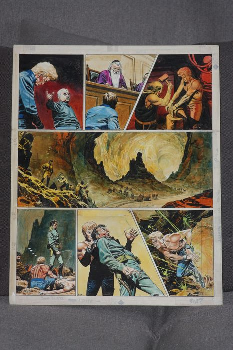 Lawrence, Don - Planche originale couleur - The Trigan Empire - The Invisibility Ray - (1969)