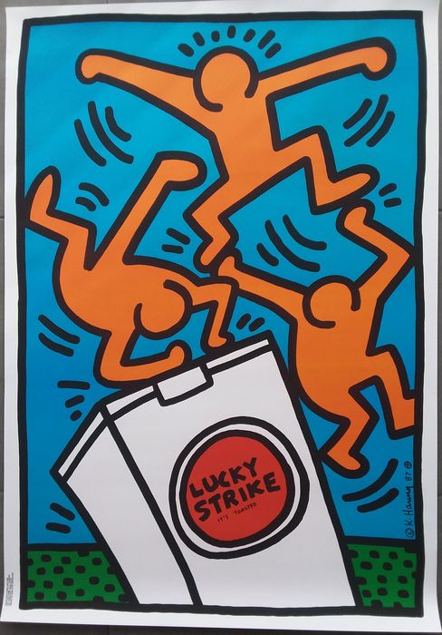 Keith Haring - Poster: Lucky Strike