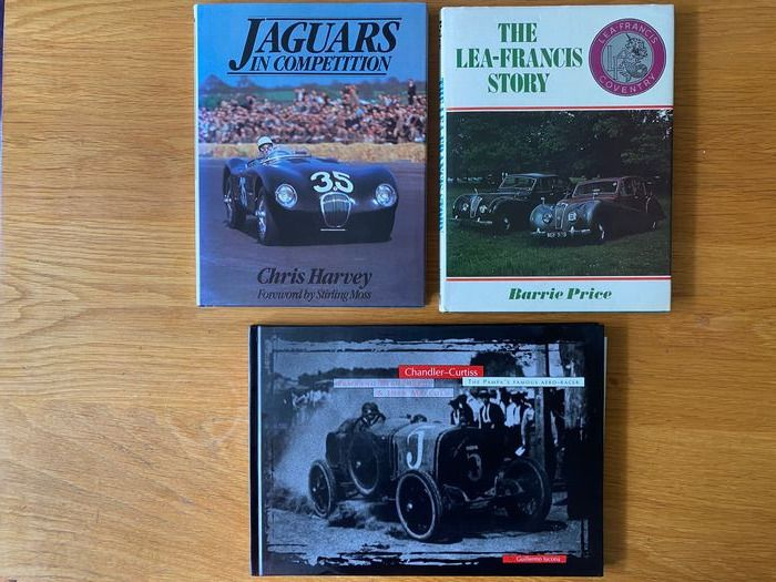 Boeken - The Lea Francis Story, Jaguar in Competition, Chandler Curtiss The Pampas Famous Aero Racer   - Na 2000