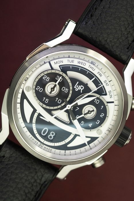 L&Jr - Chronograph Day and Date Black and Grey Dial With Black Strap - S1503 - Uomo - 2011-presente