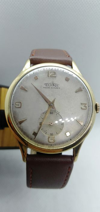 Technos - Jumbo XXL 39 mm  - Vintage - Heren - 1960-1969