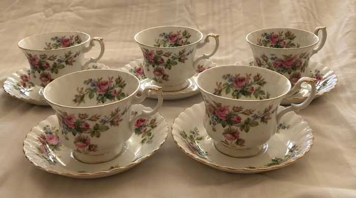 Royal Albert - Moss Rose - Theeservies (10) - Porselein