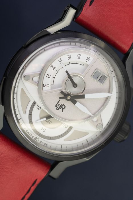 "L&Jr - Day and Date White Dial with Burgundy Strap + Extra Strap - S1301-S12 ""NO RESERVE PRICE"" - Herren - 2011-heute"