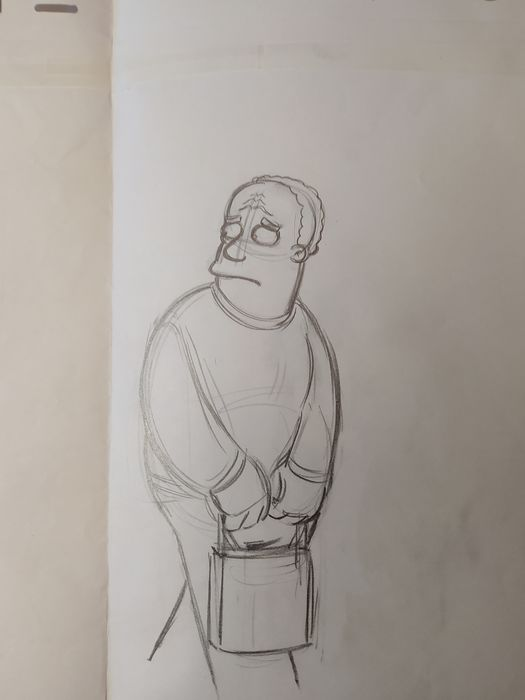 The Simpsons - Original Drawing of Dr. Hibbert