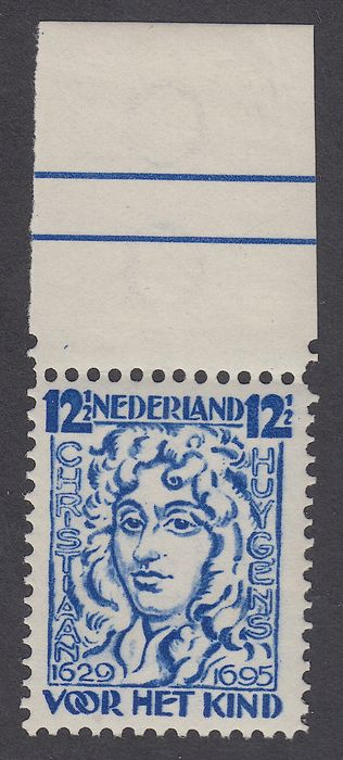Netherlands 1928 - Children's stamp in perforation 12 x 12½ with plate error - NVPH 223B PM