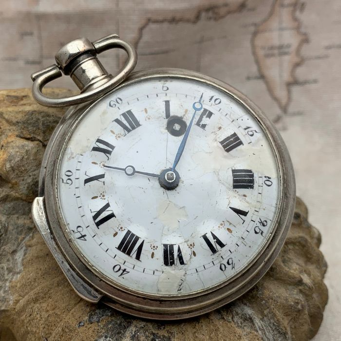 Pocket watch  - French - Verge Fusee - NO RESERVE PRICE - Homem - Anterior a 1850