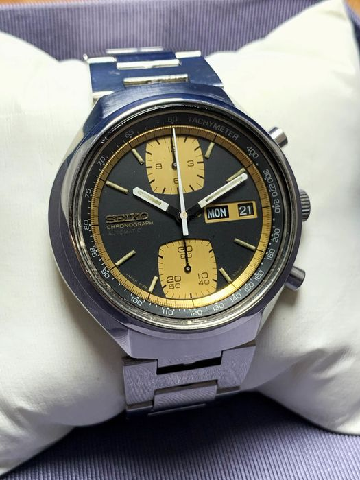 """Seiko - """"NO RESERVE PRICE"""" Automatic Chronograph John Player Special 6138-8030 - Homme - 1970-1979"""