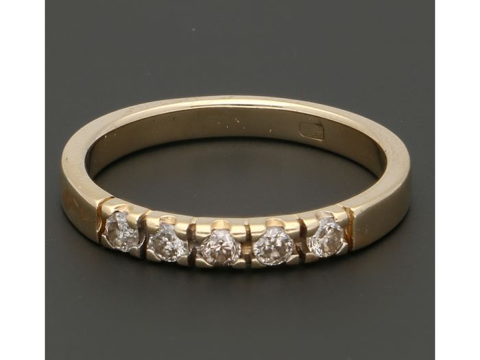 14 carats Or - Bague - 0.20 ct Diamant