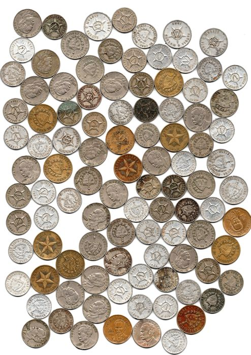 Cuba - Centavo up to and including Peso 1946/1992 (100 pieces)