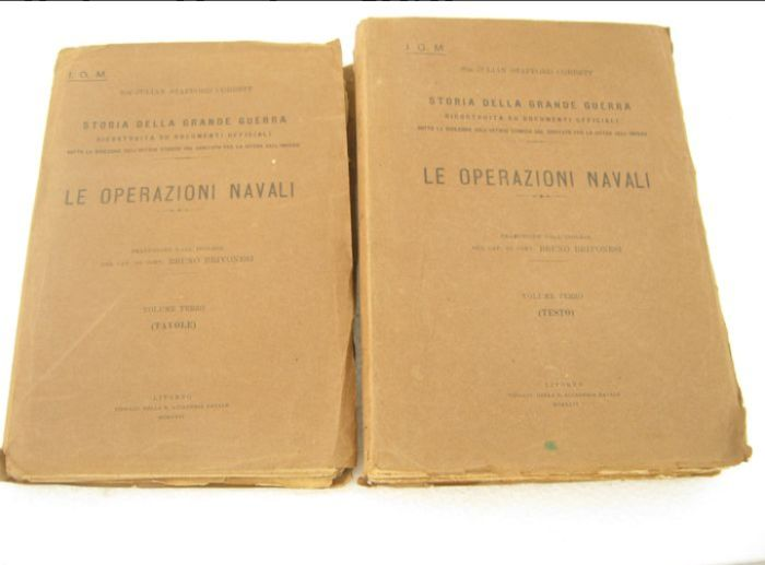 Italy - Navy - Book, Document, Naval operations directed by the Italian navy - 1925