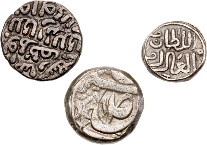 India, Princely States - Lot various not determined Indian coins (3 pieces)
