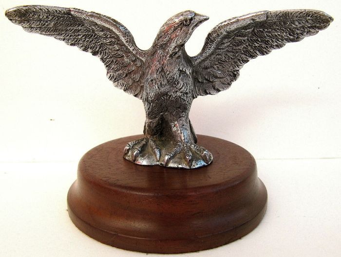 "Embleem / Mascotte - Rare Vintage 1930's Eagle Car Mascot - Base Marked ""FB"" - Francois Victor Bazin - 1930-1940"