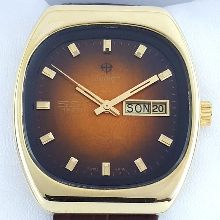 Zodiac - SST  36000 Vintage Gold Plated Automatic Day-Date - 863 971 - Herren - 1970-1979