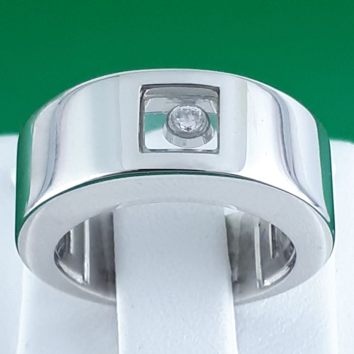 Chopard - 18 carats Or blanc - Joyeux diamant bague - 0.04 ct Diamant