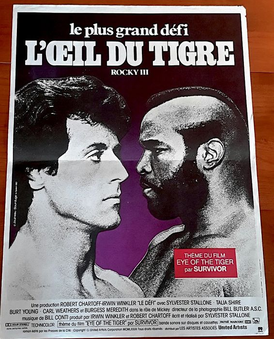 Rocky - Sylvester Stallone - Poster, Lot of 3 - Original French Cinema releases