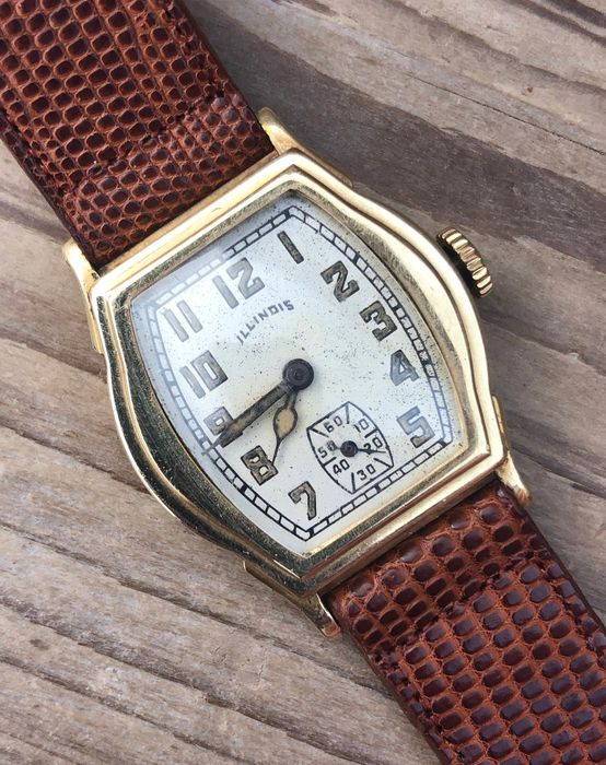 ILLINOIS - 14K goldrolled Cavalier - art deco Dresswatch - Herren - 1901-1949