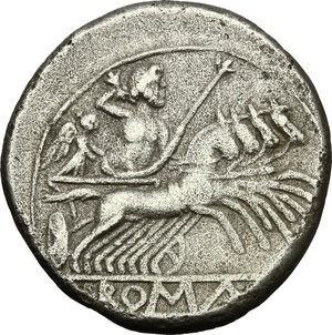 Roman Republic - Anonymous. AR Quadrigatus,  c. 225-214 BC, uncertain mint - Silver