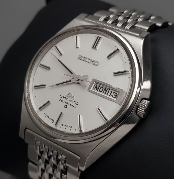 """Seiko - """"NO RESERVE PRICE"""" Lord Matic LINEN DIAL Automatic Vintage Men - 5606-7010 - Heren - 1960-1969"""