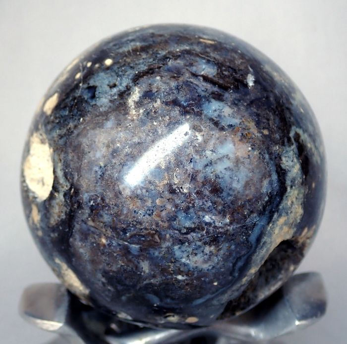 ** NEW ** Rare Black Opal  Sphere, With little druses - 68.81×68.81×68.81 mm - 324.2 g