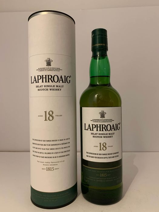 Laphroaig 18 years old - Original bottling - 70 cl