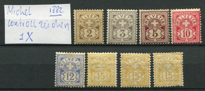 Schweiz 1882/1907 - Small collection classics with many varieties - Michel 50 - 94