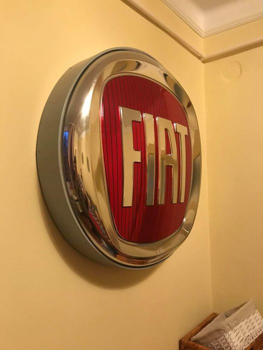 Sign - Fiat  illuminated advertising logo - Fiat - After 2000