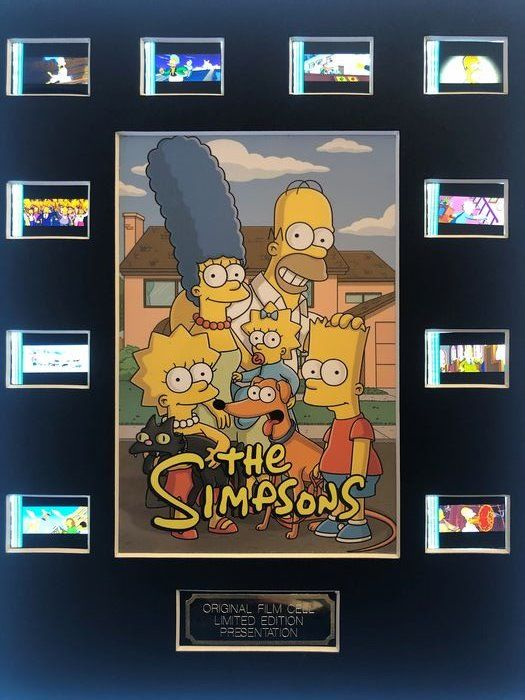 The Simpsons -  Film Cell Display