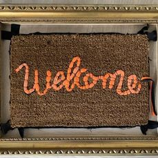 Banksy x Love Welcomes - Welcome Mat - Gross Domestic Product