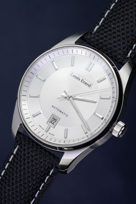 Louis Erard - Automatic Heritage Sport Collection Silver Swiss Made - 69101AA31.BDC82 - Herren - BRAND NEW