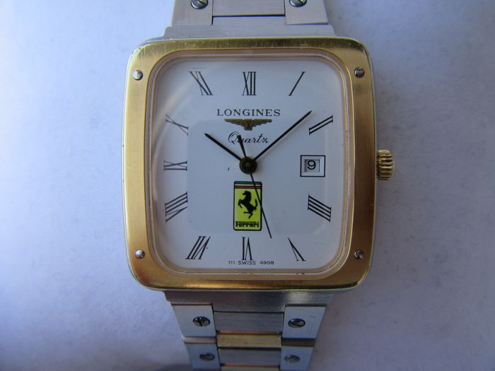 Longines - Longines Ferrari Steel and 18 kt gold-plated case and bracelet - Cal. LONGINES L950.2 - Heren - 1980-1989
