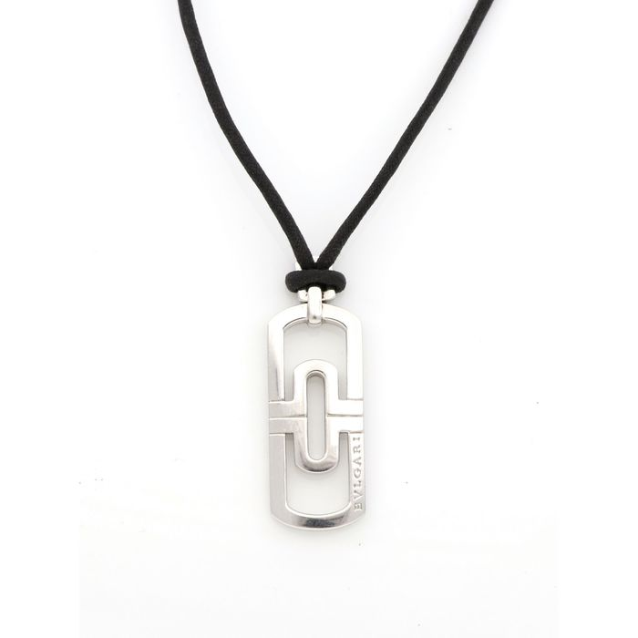 Bvlgari - 18 kt. White gold - Necklace, Necklace with pendant
