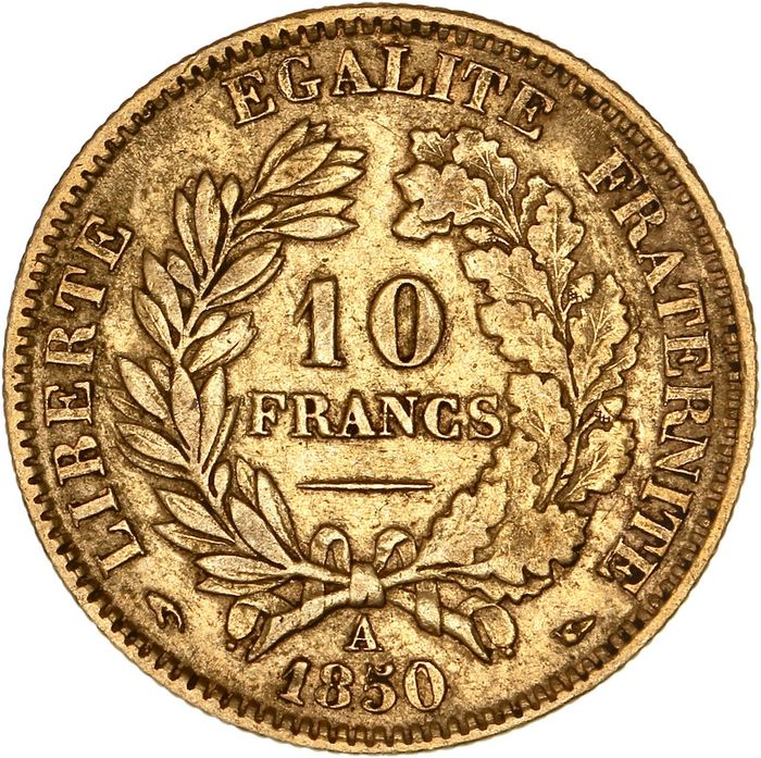 10 Francs 1850-A Cérès - Or