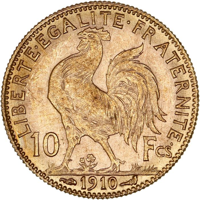 10 Francs 1910 Marianne - Or