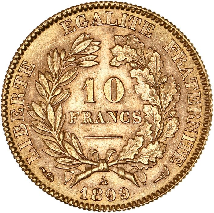10 Francs 1899-A Cérès - Or