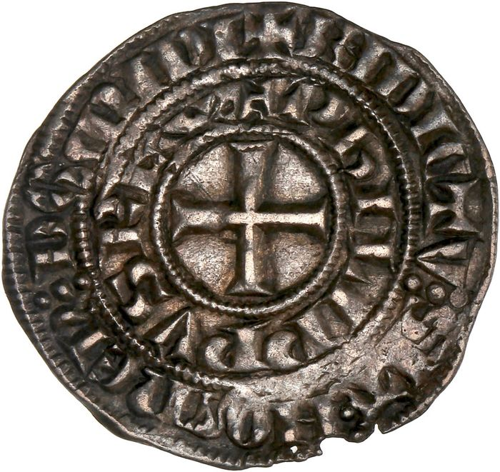 France - Philippe IV (1285-1314) - Maille Blanche - Silver