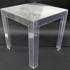 Paolo Rizzatto - Kartell - Transparent table - Jolly