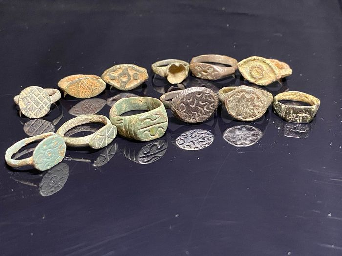 Early medieval Bronze rings  - (12)