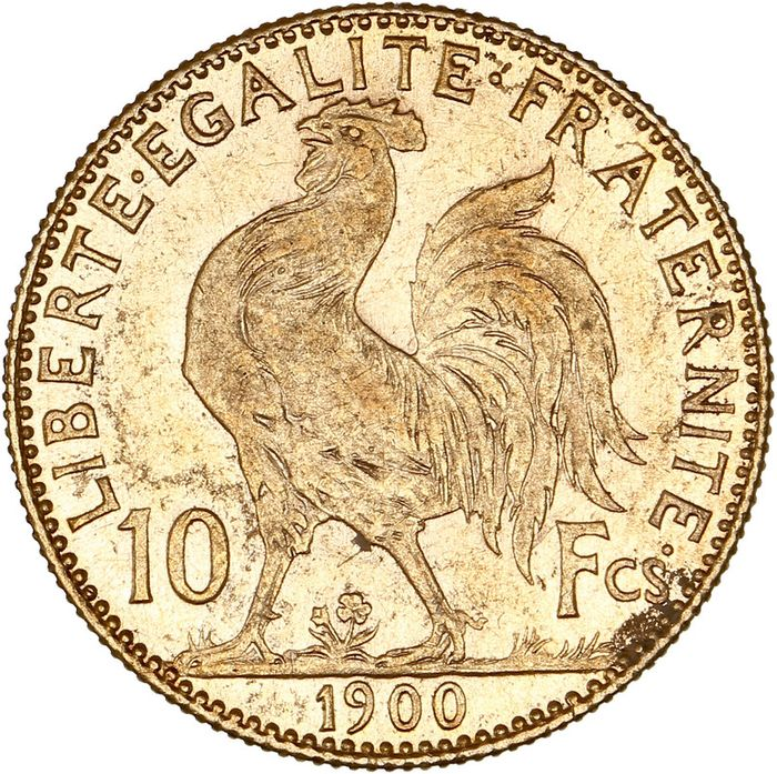 10 Francs 1900 Marianne - Or