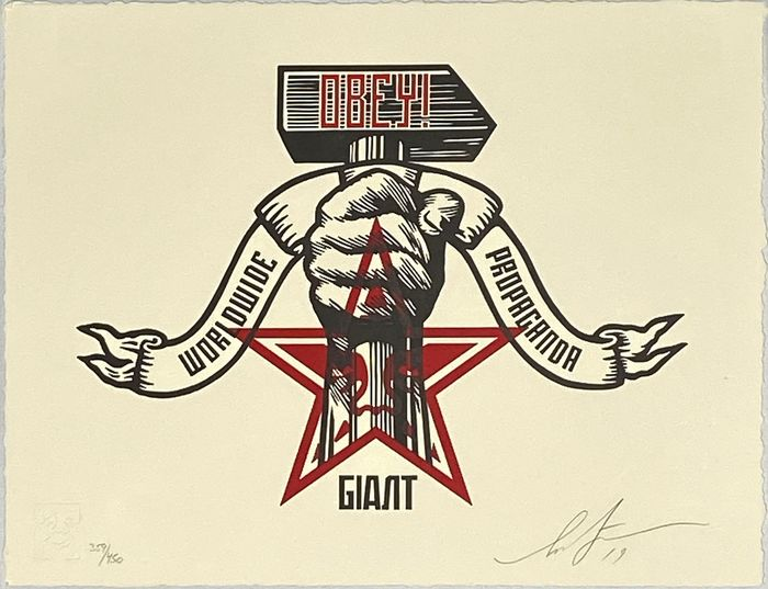 Shepard Fairey (OBEY) - 'Hammer and Fist'