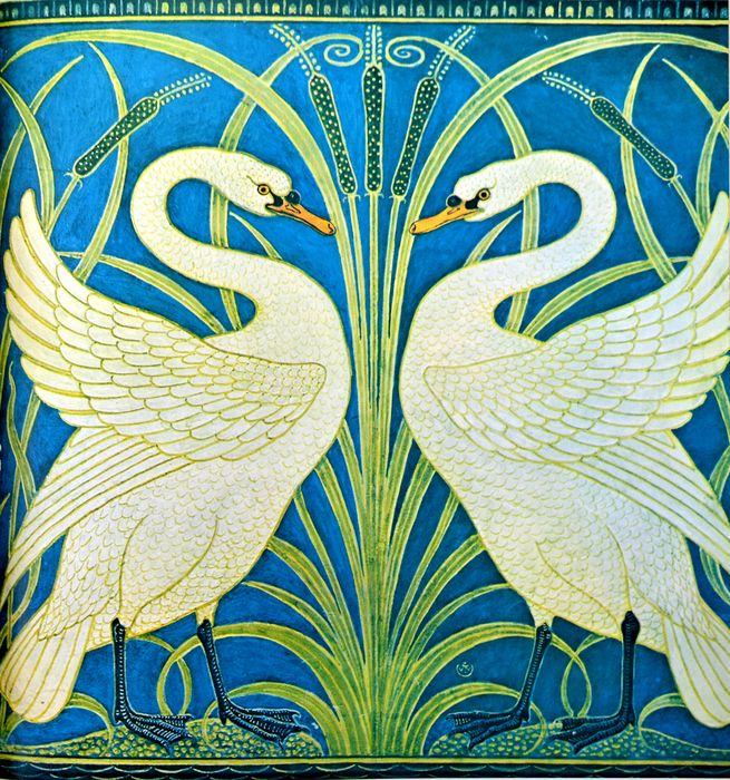 Walter Crane - 5 Books & Art of Walter Crane, incl. White Daisy, Little Pig, Line and Form - 1875/2010
