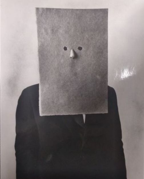 Irving Penn (1917-2009) - Saul Steinberg in Nose Mask, 1966.