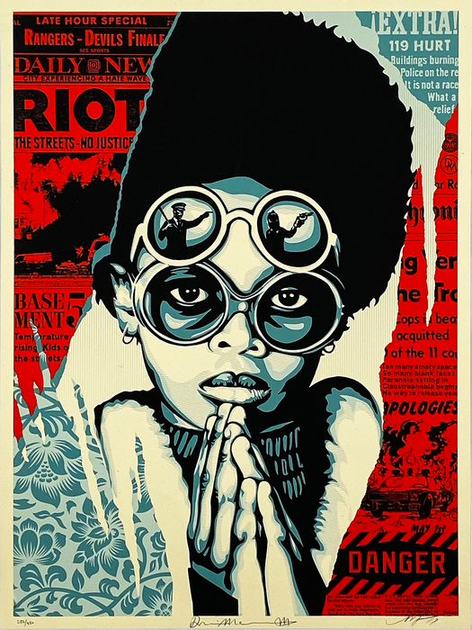 Shepard Fairey (OBEY) - 'Damaged Times: Late Hour Riot'