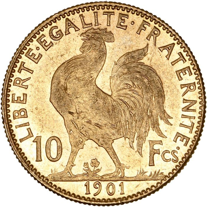 10 Francs 1901 Marianne - Or