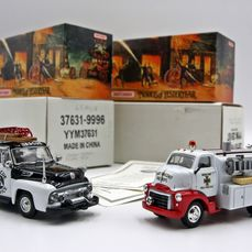 Matchbox - 1:43 - 2x Camion Pompieri - Models of Yesteryear
