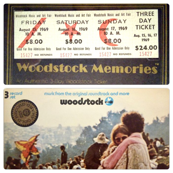 Woodstock & Related - Multiple artists - Music From The Original Soundtrack And More - 3xLP Album (Triple album), Official (concert) ticket - 1970/1969